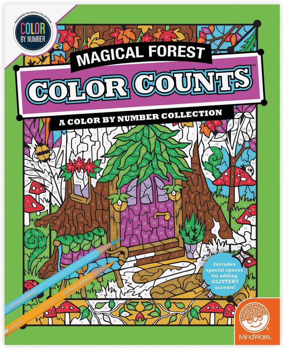 Magical Forest Color By Number