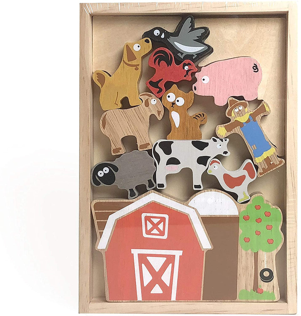 Balance Barn Farm Playset & Stacking Game