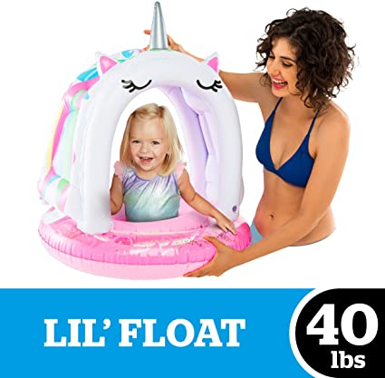 Lil' Canopy Unicorn Pool Float