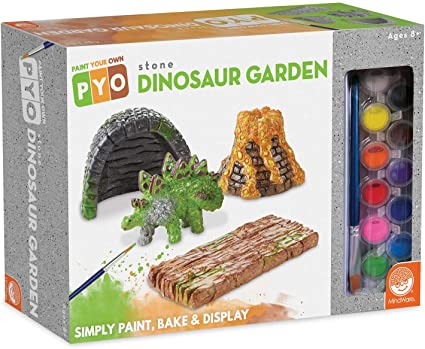 Paint Your Own Dinosaur Garden