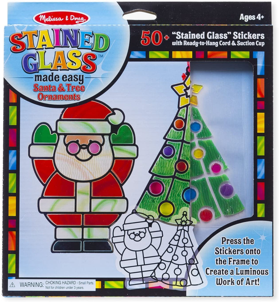 Santa Claus Stained Glass