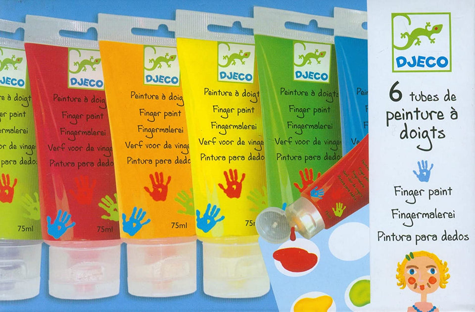 Finger Paint Tubes -Set of 6 Colors