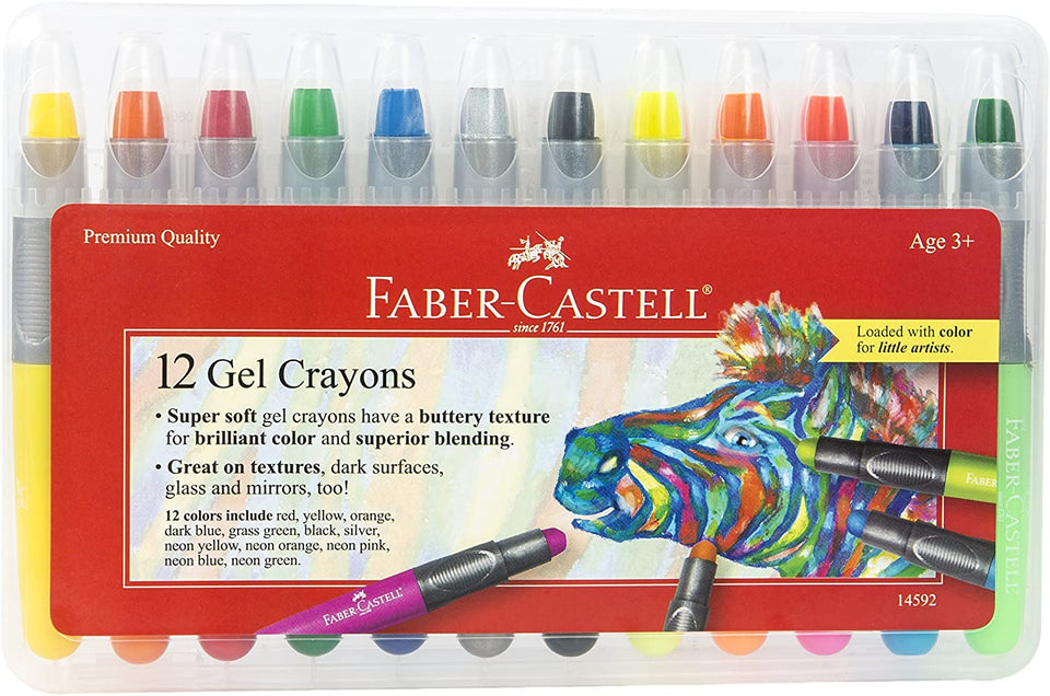 Gel Crayons 12 Count