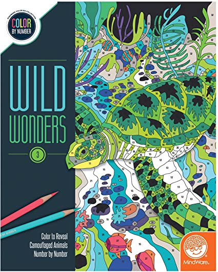 Wild Wonders Color by Number Book 3