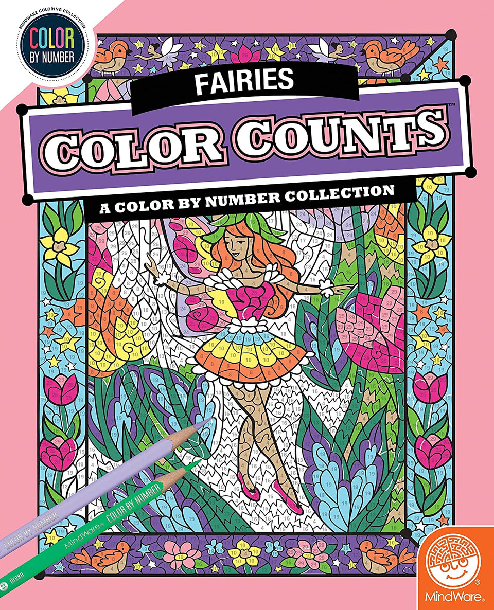 Fairies Color by Number