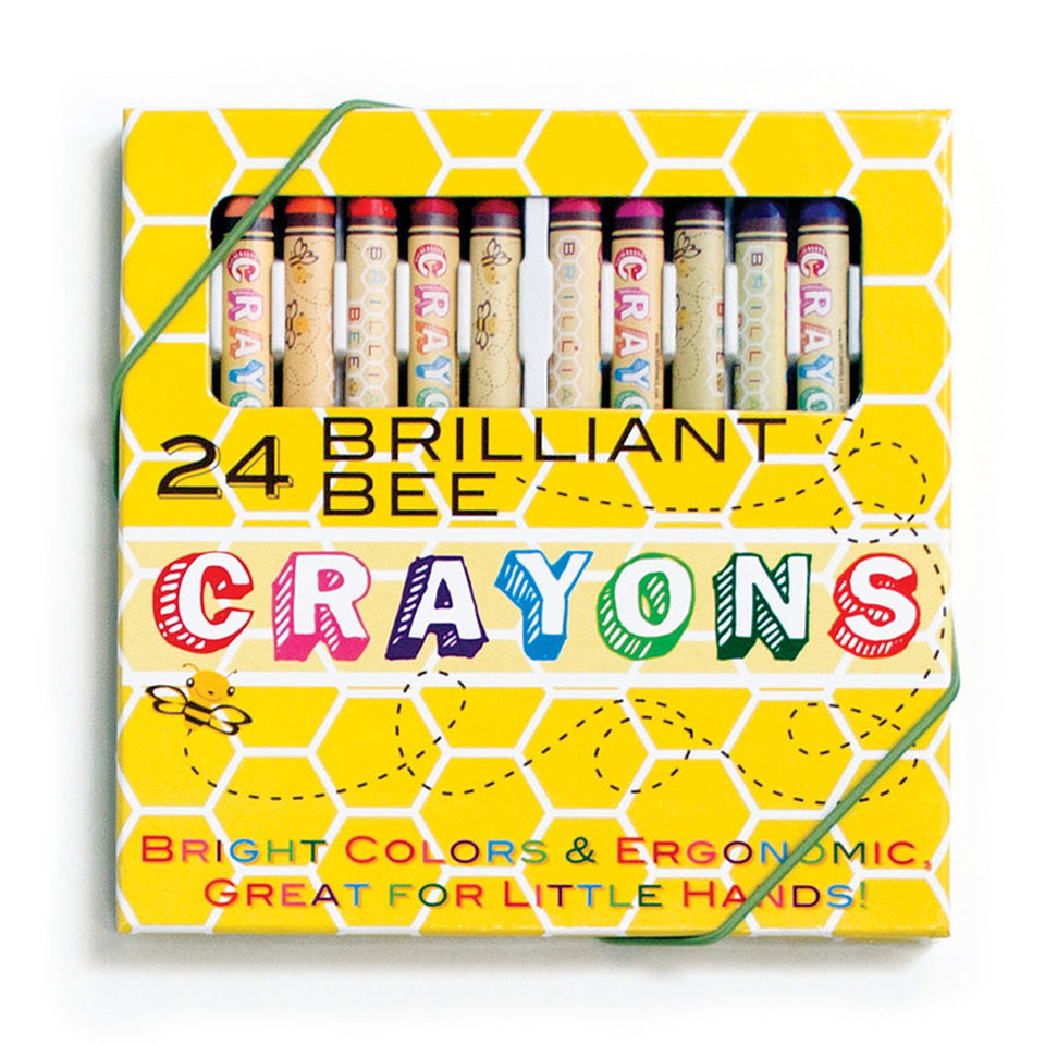 24 Brilliant Bee Crayons