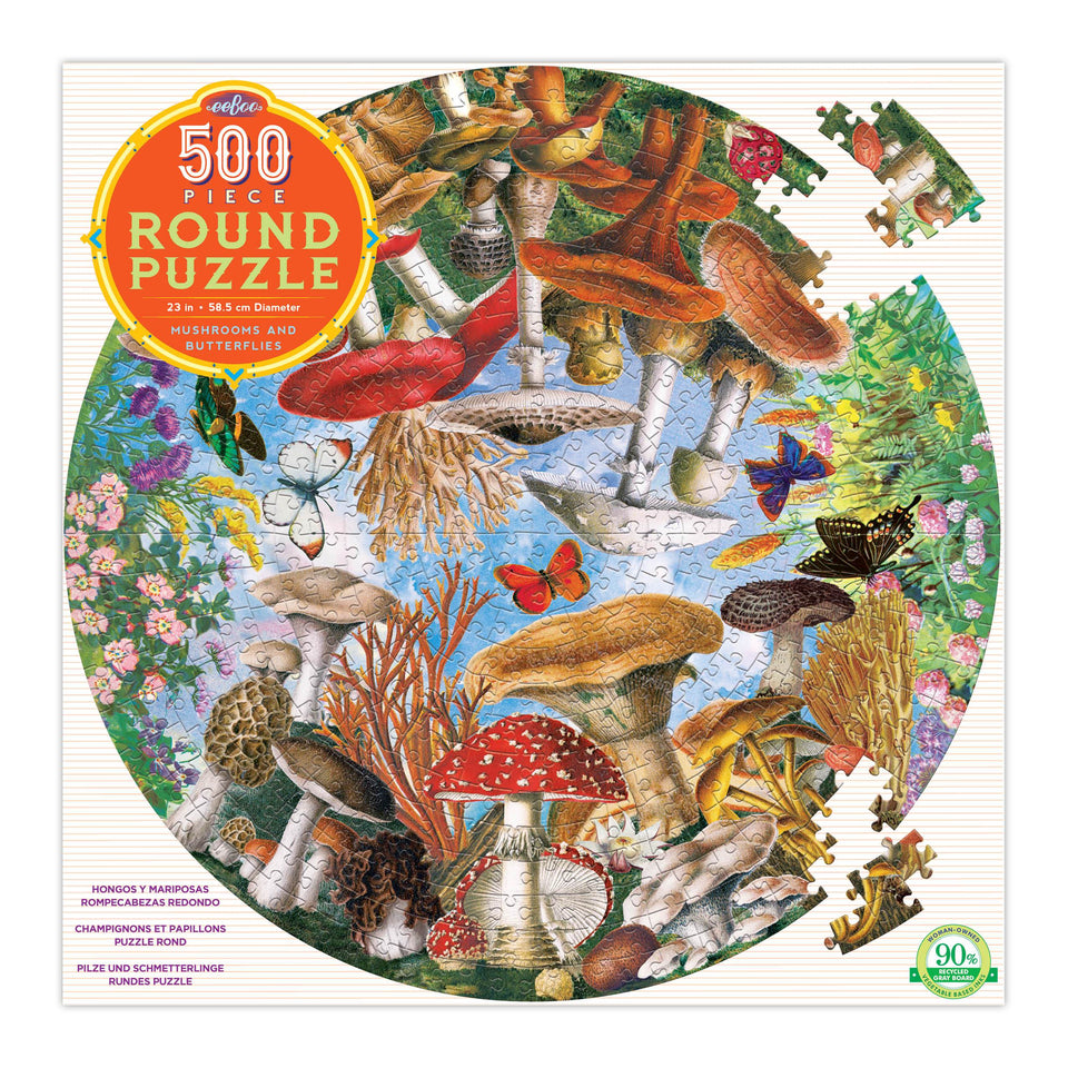 eeboo Mushrooms & Butterflies 500 PIece Puzzle