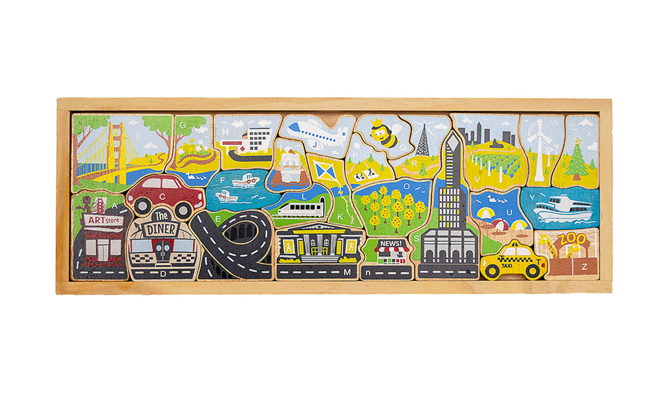 City A to Z Puzzle & Playset