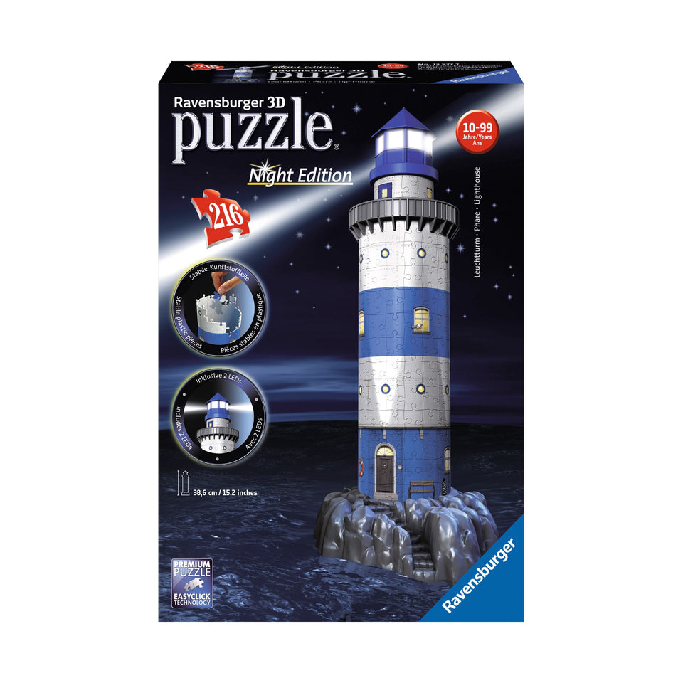 3D Light House by Night Puzzle