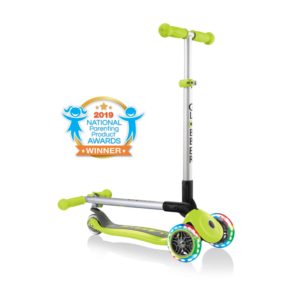 Primo Lime Green Foldable Lights Scooter