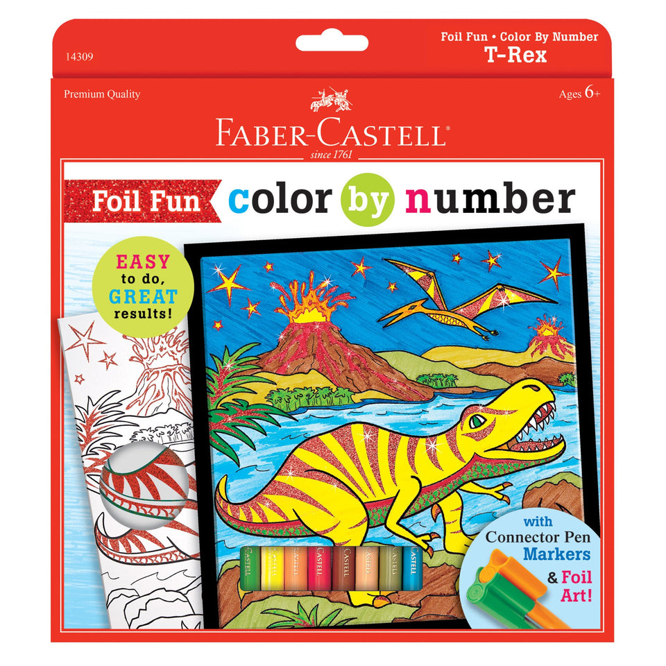 Color By Number T-Rex Foil
