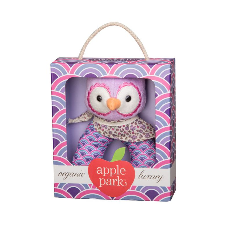 Purple Owl Rattle