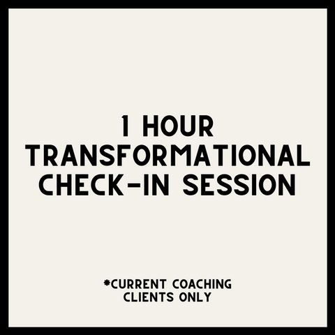 1 HOUR TRANSFORMATIONAL CHECK-IN HEALING SESSION