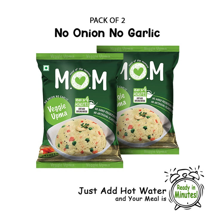 Veggie Upma Pouch - No Onion No Garlic (Pack of 2)