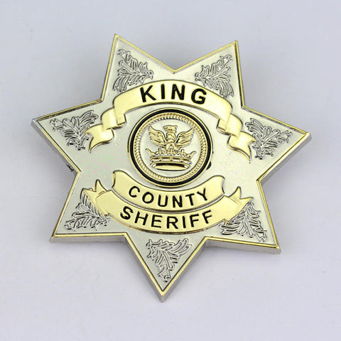 Star King County Sheriff Badge Brooch
