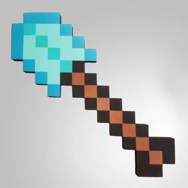 Pixel Foam Weapon Axe & Shovel