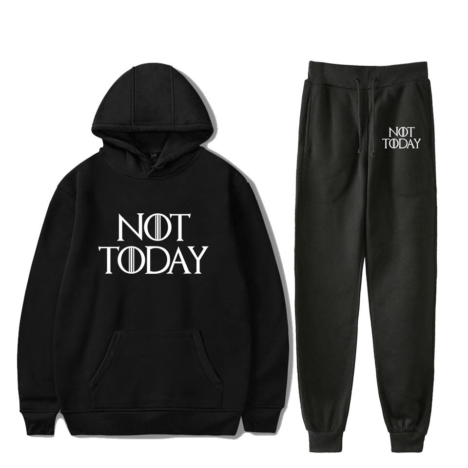 2pc Women's Not Today Winter Fitness Set