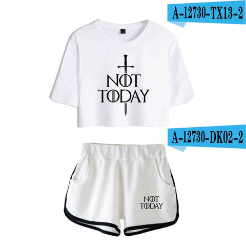 2pc  Women's NOT TODAY  Gym Set