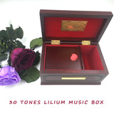 30 Tones Elfen Lied Lilium Wooden Music Box