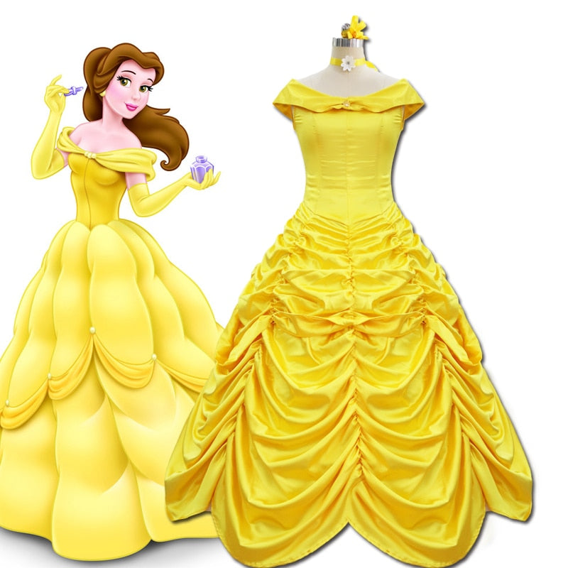 Fairy Tale Yellow Princess Dress
