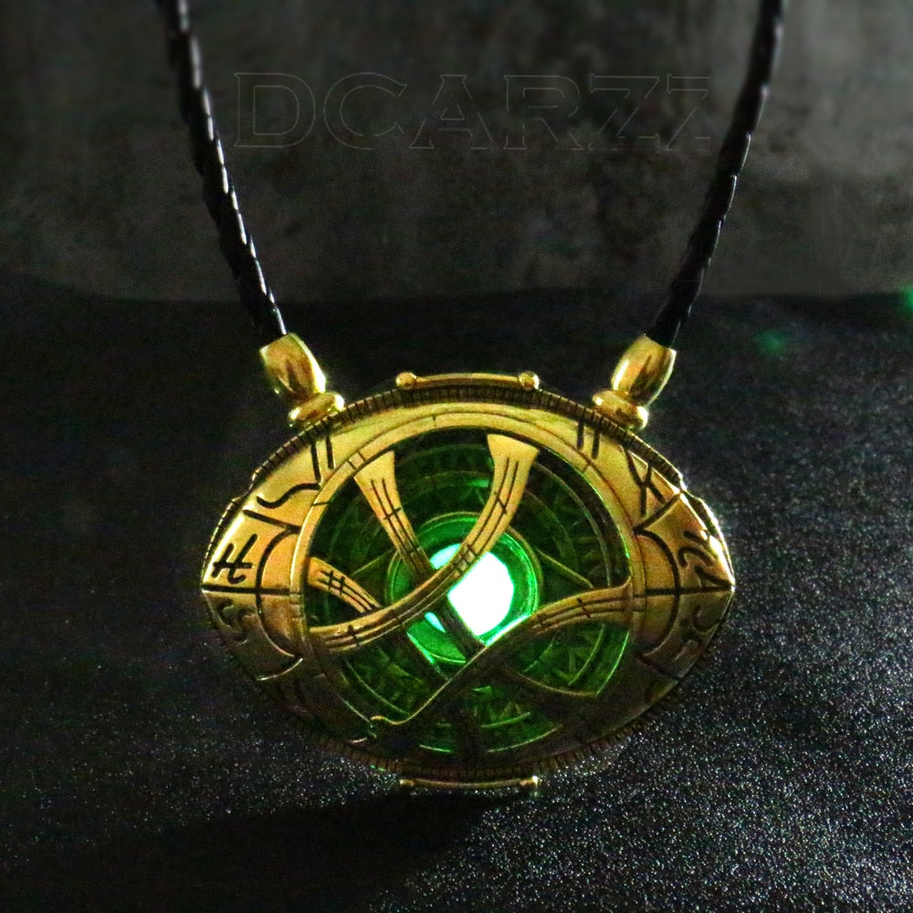 Glow in Dark Eye Bronze Pendant