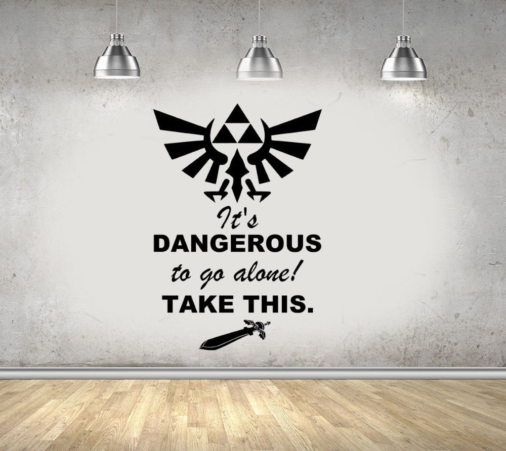 Zelda Gaming Quote Vinyl Wall Art Sticker