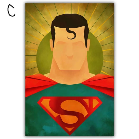 Cartoon Superhero Canvas Print