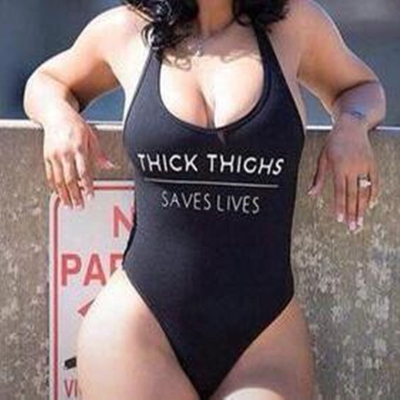 THICK THIGHS SAVES LIVES  Swimsuit