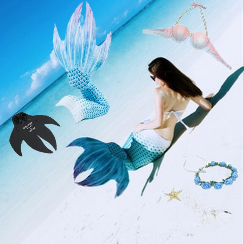 5pcs Mermaid Tail with Flippers