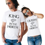 Couples King Queen In The North T Shirts