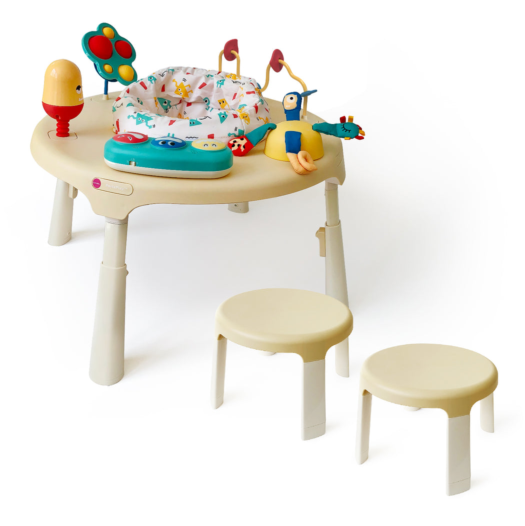 PortaPlay Stage-Based Activity Center - Monsterland Adventures + Stools Combo