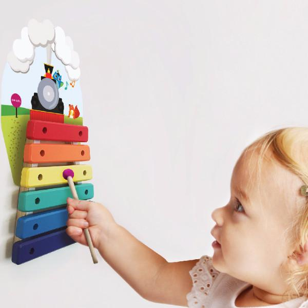VertiPlay Wall Toy: Musical Rail Track