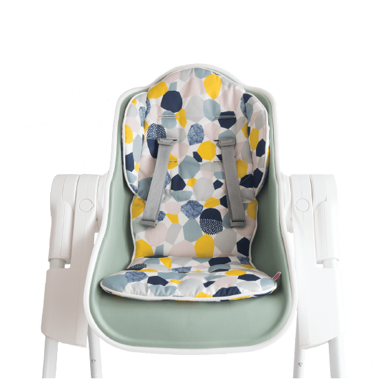 Cocoon High Chair (Green, Pistachio Macaron) + Seat Liner Combo