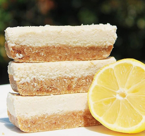 Vegan + GF Lemon & Coconut Slice