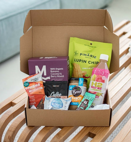 healthy box of snacks subscription service