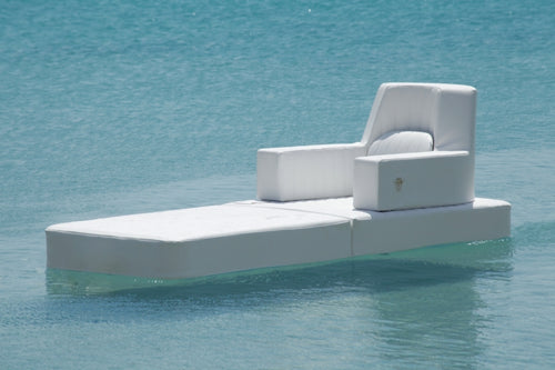 White Floating Armchair in the water