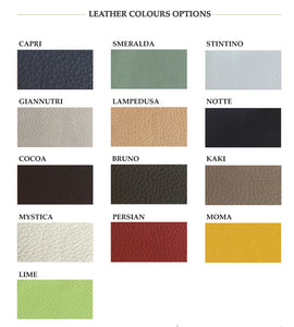 Colors for personalization of Perlage Yachting leather accessories