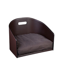 Load image into Gallery viewer, Leather Dog Bed Cocò - Chocolate / Leather / S - Chocolate / Leather / M