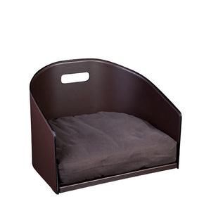 Leather Dog Bed Cocò - Chocolate / Leather / S - Chocolate / Leather / M