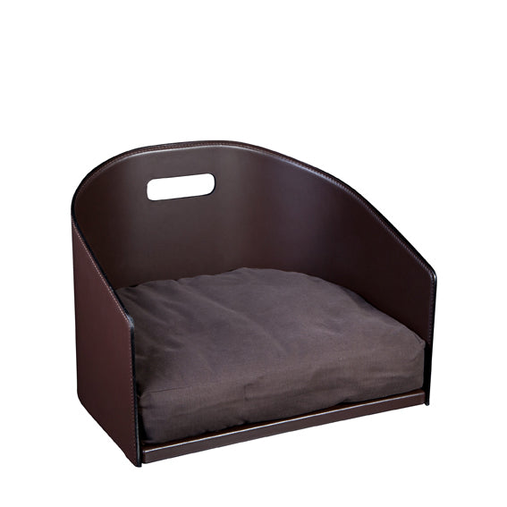Smooth Eco Leather Dog Bed Cocò - Chocolate / Smooth Eco Leather / S - Chocolate / Smooth Eco Leather / M