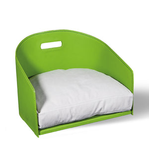Smooth Eco Leather Dog Bed Cocò - Green Apple / Smooth Eco Leather / S - Green Apple / Smooth Eco Leather / M