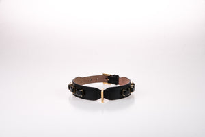 Dog Collar Jewel in Soft Leather Grande - Black / 40 - Black / 45 - Black / 50