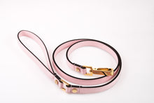 Load image into Gallery viewer, Dog Leash in Soft Leather - Light Pink