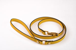 Dog Leash in Soft Leather - Sun
