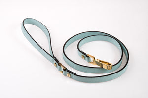 Dog Leash in Soft Leather - Cloud
