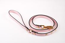 Load image into Gallery viewer, Dog Leash Stud Star in Soft Leather - Light Pink