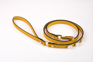 Dog Leash Jewel in Soft Leather - Sun