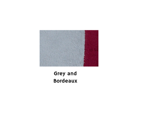Cotton Bath Towel Medium size - Grey&Bordeaux