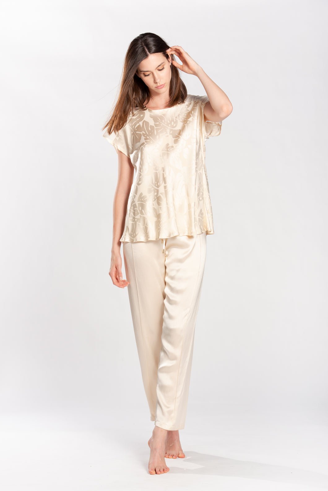White Blouse Georgette Jungle Style