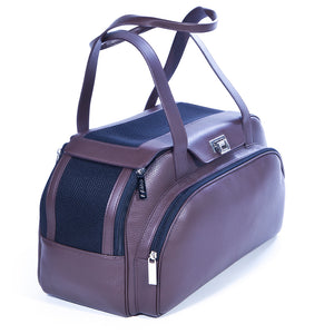Soft Leather Dog Bag Lola - Chocolate / Smooth Leather